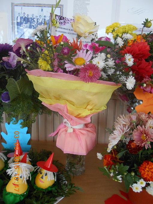 На выставку цветов поделки